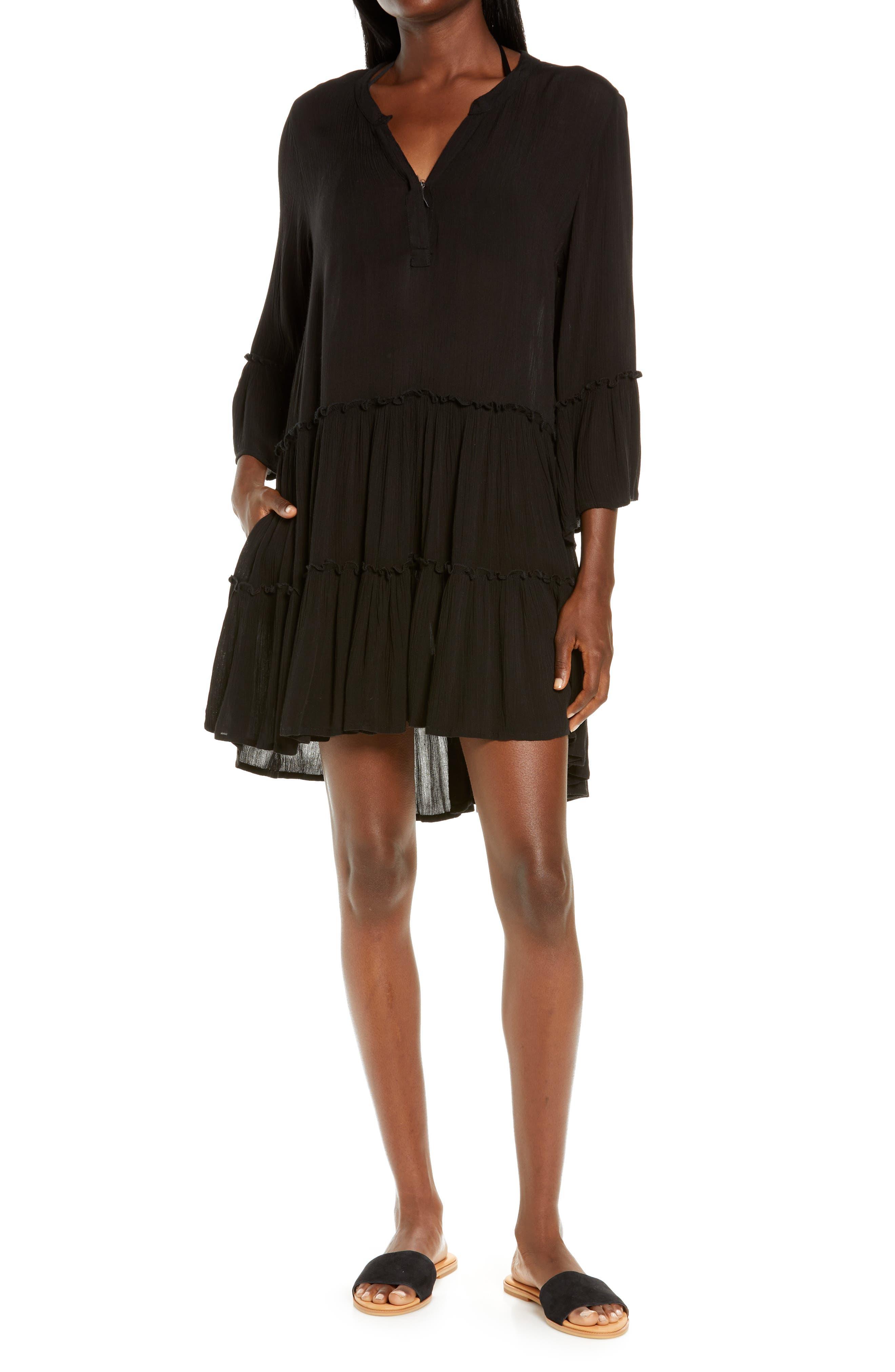 V-Neck Cover-Up Dress