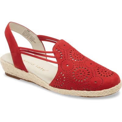 David Tate Zena Espadrille Wedge, Red