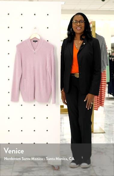 Zip Front Eyelash Sweater Jacket, sales video thumbnail