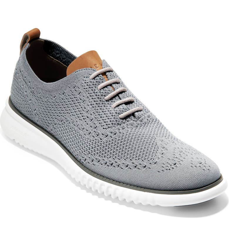 COLE HAAN 2.ZeroGrand Stitchlite Water Resistant Wingtip, Main, color, IRONSTONE/ WHITE
