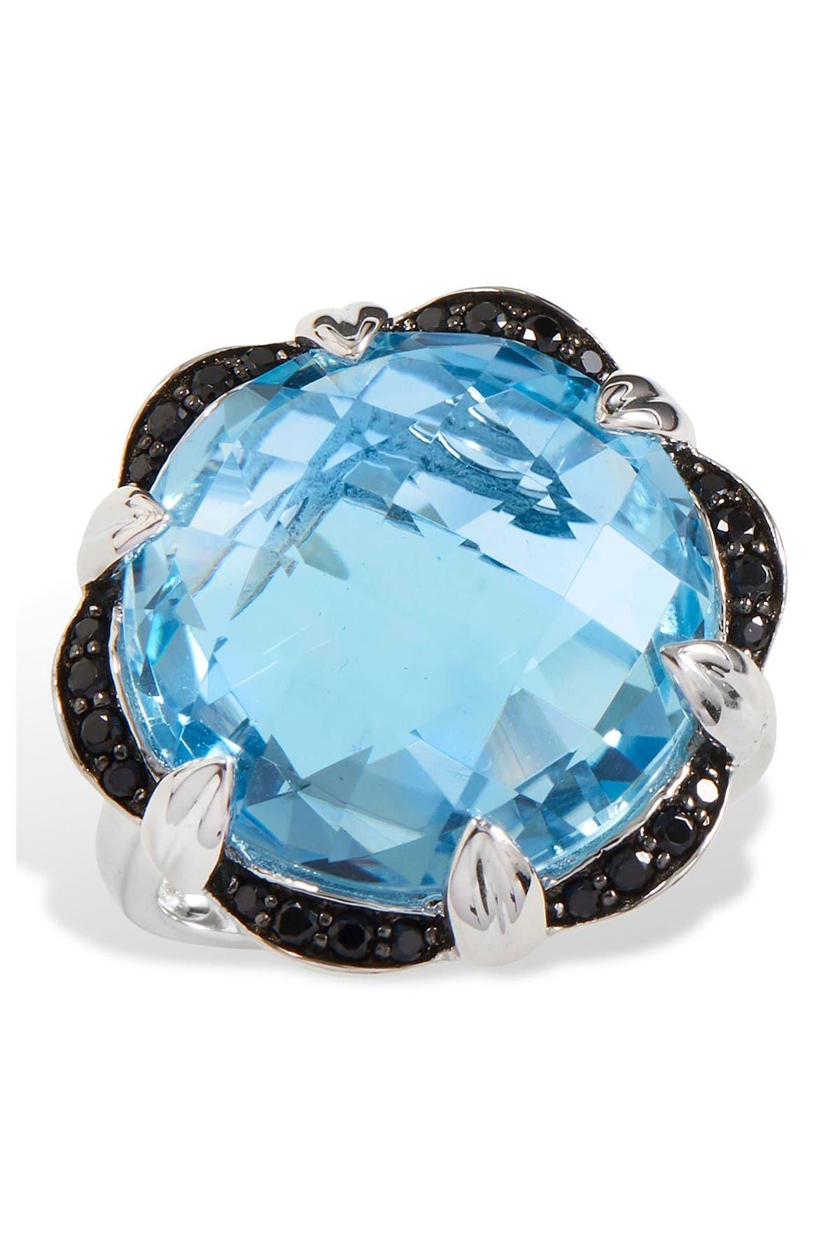 Image of Savvy Cie Sterling Silver Topaz & Spinel Briolette Ring