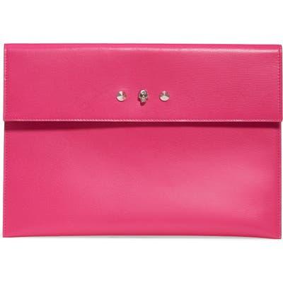 Alexander Mcqueen Skull Envelope Clutch - Pink