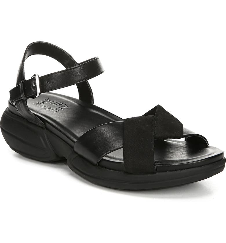 NATURALIZER Finlee Sandal, Main, color, BLACK LEATHER