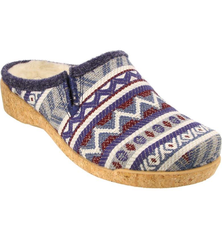 TAOS Kick Off Slipper, Main, color, BLUE MULTI FABRIC