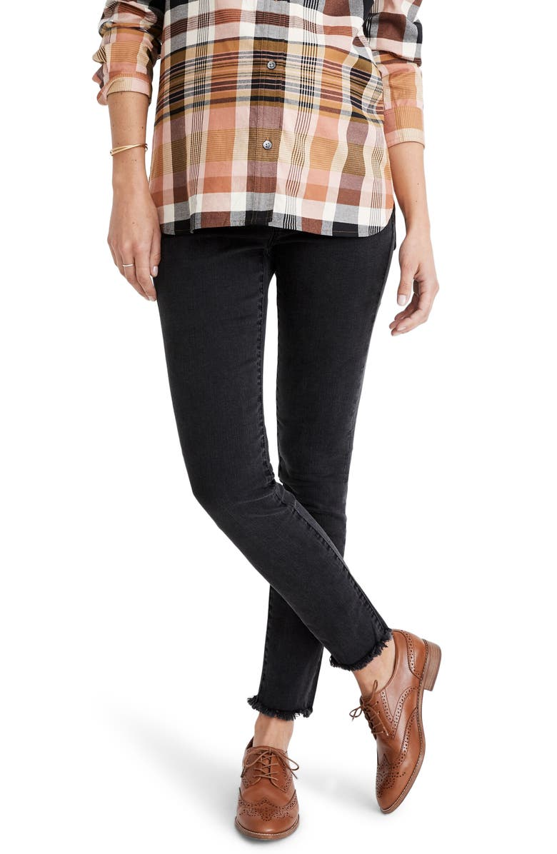 MADEWELL Maternity Adjustable Edition: Side-Panel Skinny Jeans, Main, color, BERKELEY WASH