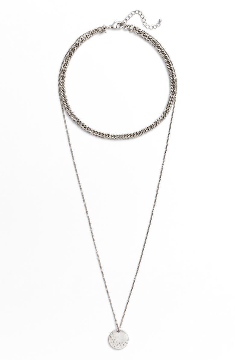 TREASURE & BOND x Something Navy Multistrand Necklace, Main, color, 040