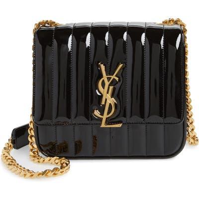 Saint Laurent Medium Vicky Patent Leather Crossbody Bag - Black