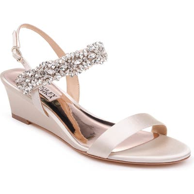 Badgley Mischka Larisa Wedge Sandal, Ivory