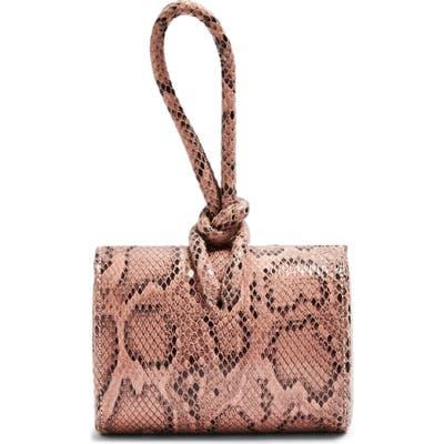Topshop Grande Snakeprint Grab Bag - Pink