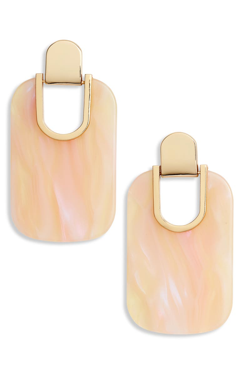 KATE SPADE NEW YORK statement earrings, Main, color, BLUSH/ MULTI