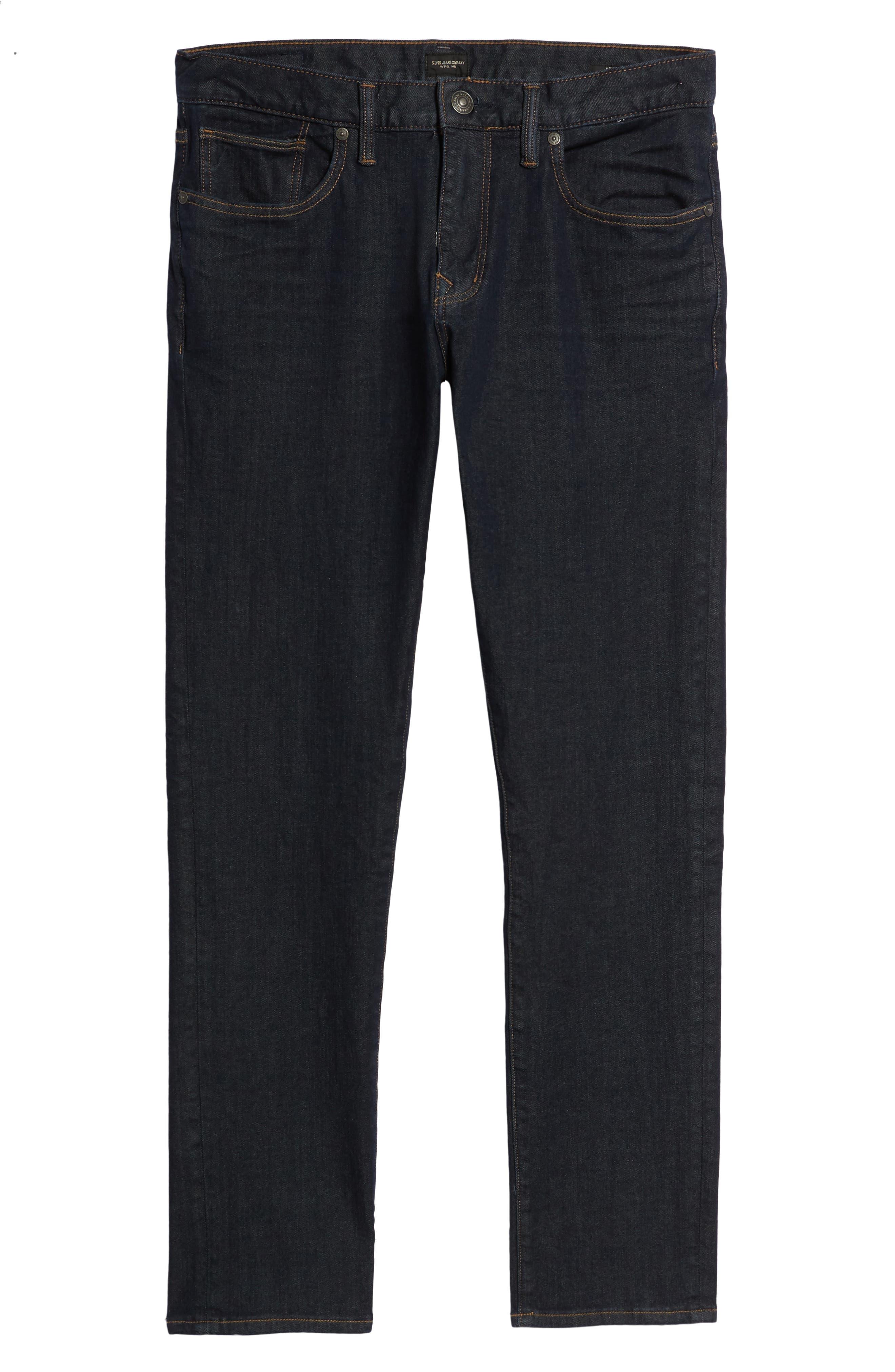 ,                             Ashdown Slim Straight Fit Jeans,                             Alternate thumbnail 7, color,                             INDIGO