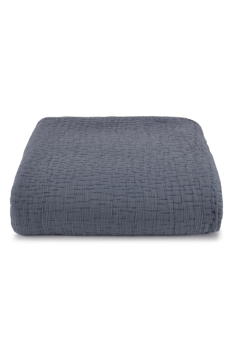KASSATEX Lafayette Coverlet, Main, color, WASHED INDIGO
