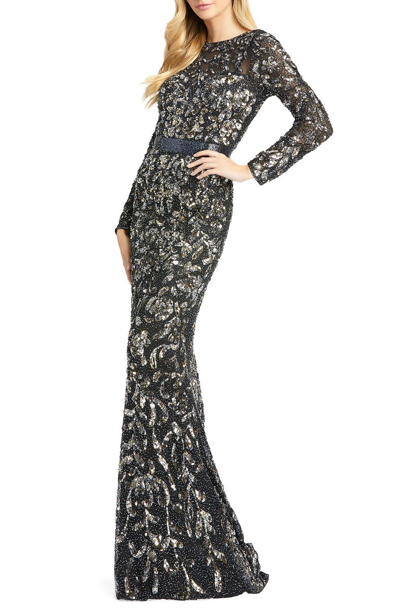 MAC DUGGAL Beaded Gown, Main, color, 006