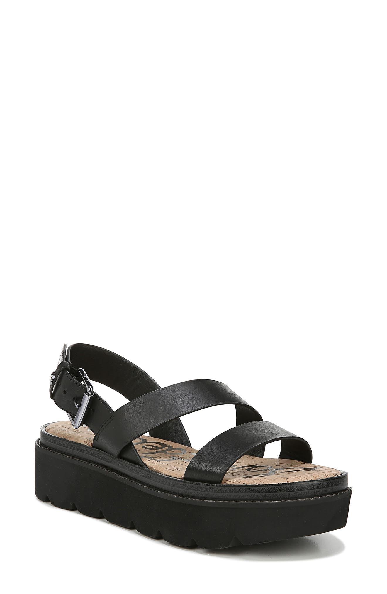 Sam Edelman Rasheed Slingback Platform Sandal, Black