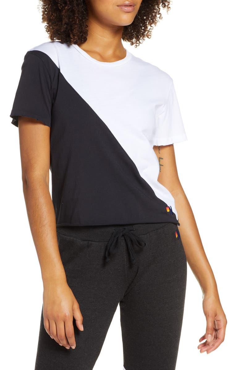 AVIATOR NATION Glider Boyfriend Tee, Main, color, 100