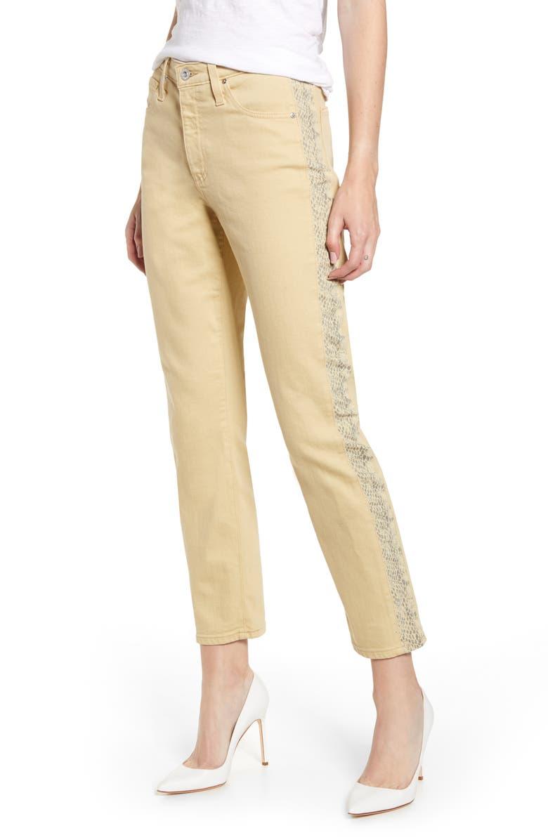 AG Isabelle Side Panel Ankle Skinny Jeans, Main, color, FRESH SAND