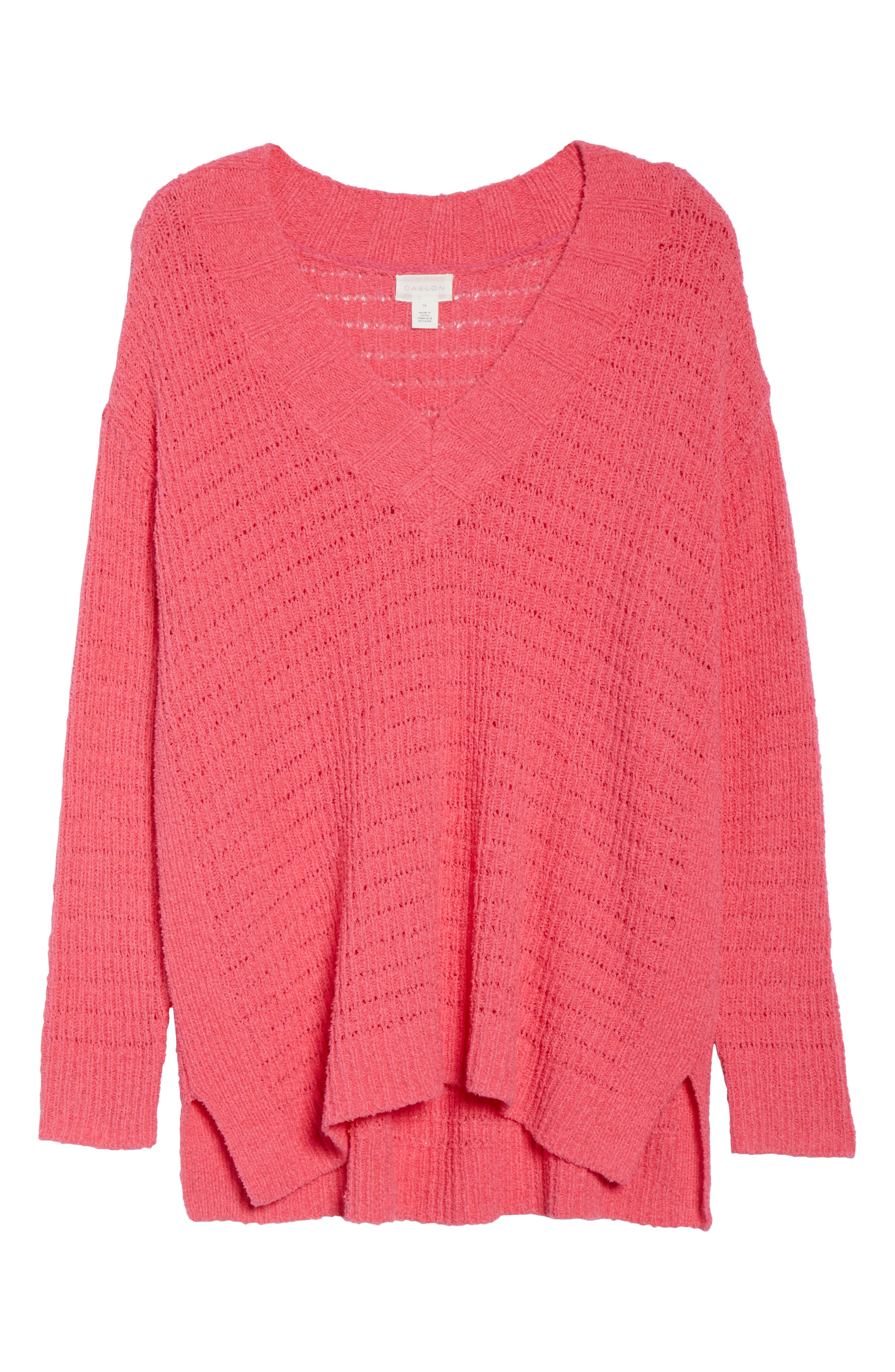 ,                             Tuck Stitch Sweater,                             Alternate thumbnail 18, color,                             651