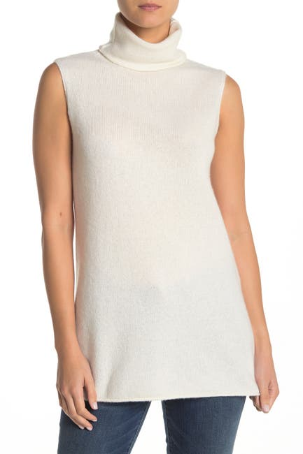 Image of Vince Sleeveless Turtleneck Cashmere Sweater