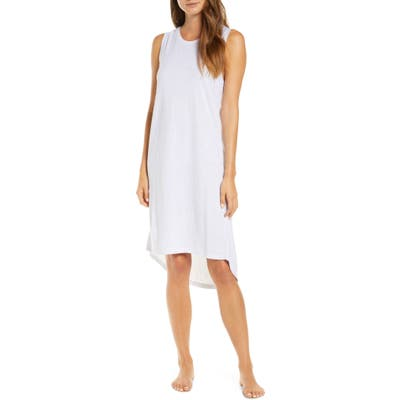 Papinelle Gemma Spot Cozy High/low Nightgown, White