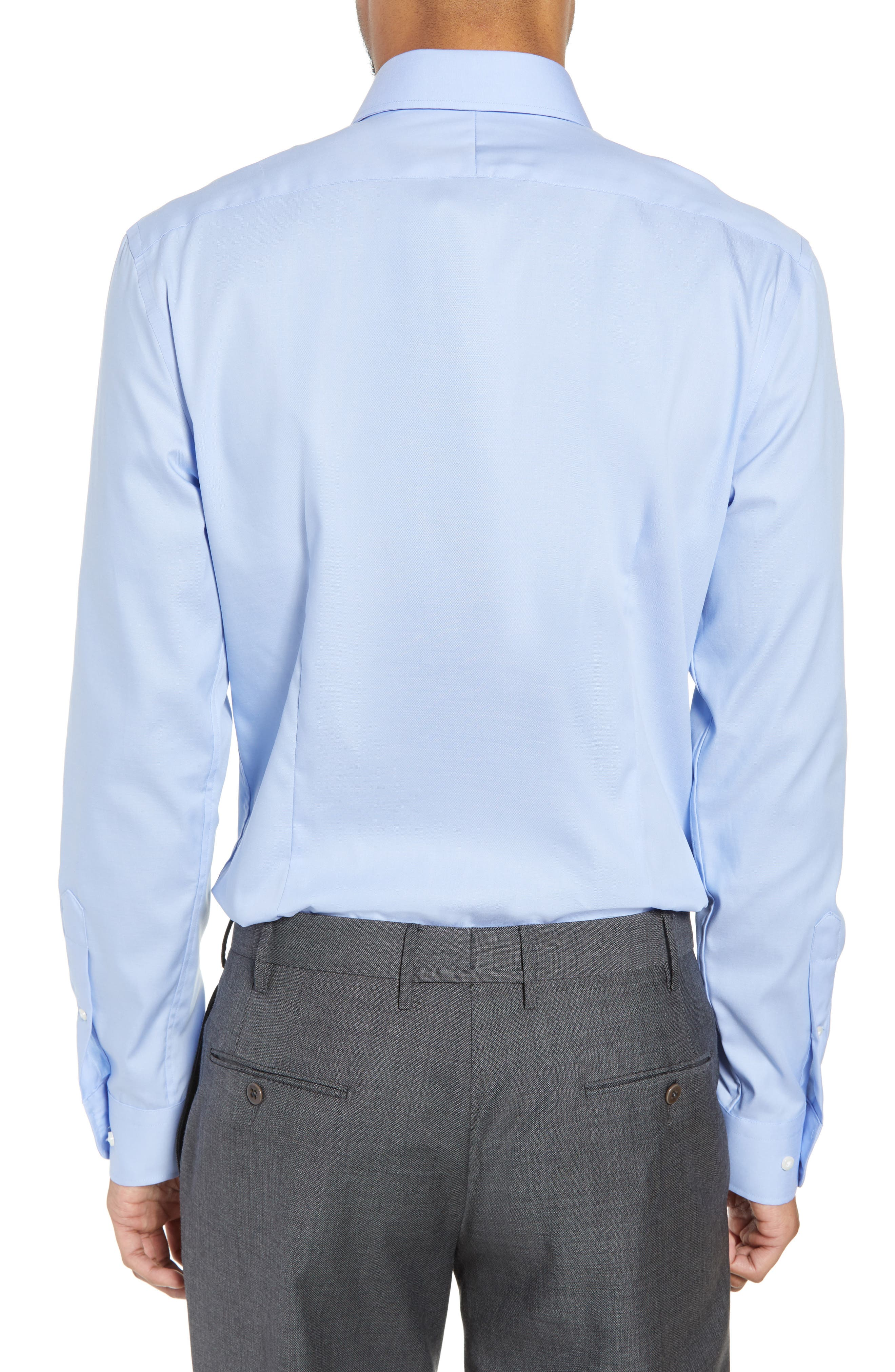 ,                             Extra Trim Fit Non-Iron Solid Dress Shirt,                             Alternate thumbnail 58, color,                             450