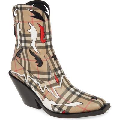 Burberry Matlock E-Canvas Cowboy Boot - Beige