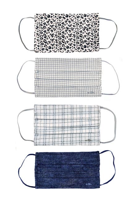 Image of TO THE MARKET Adult Assorted Organic Cotton Face Masks - Pack of 4