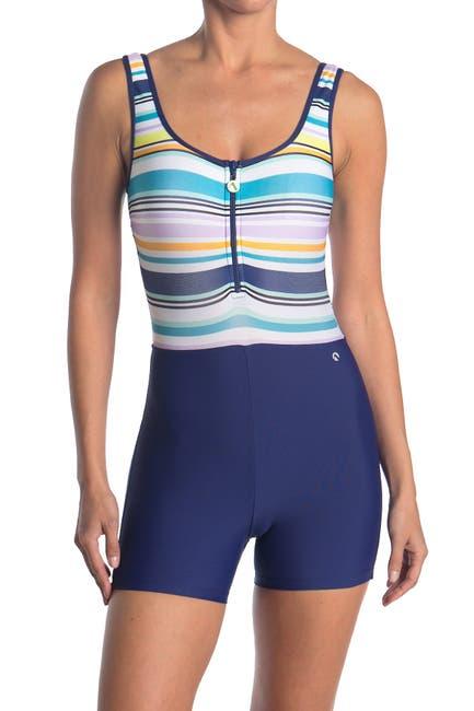 Image of NEXT Tabata Zip One Piece Swimsuit