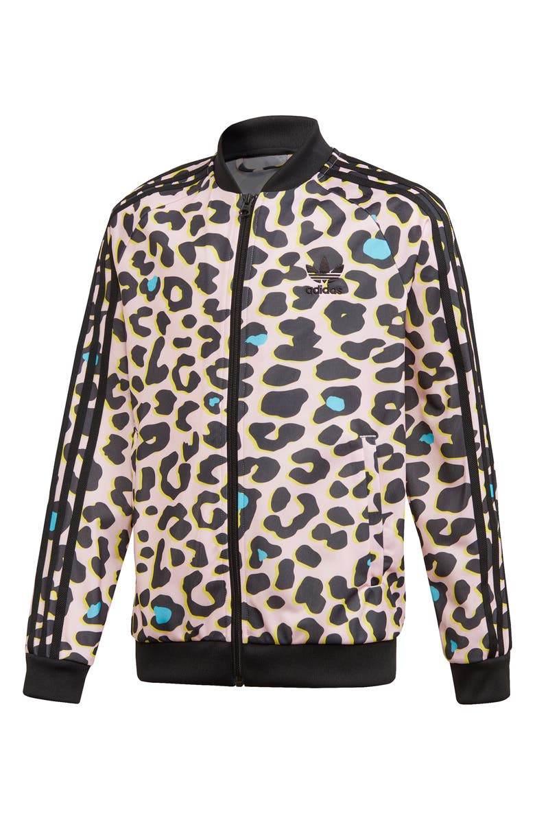 ADIDAS ORIGINALS Leopard Print Track Jacket, Main, color, 200
