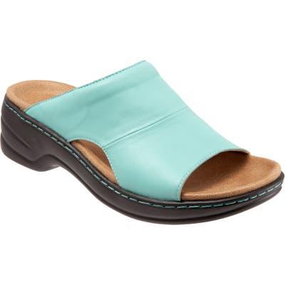 Trotters Nara Sandal, Blue/green
