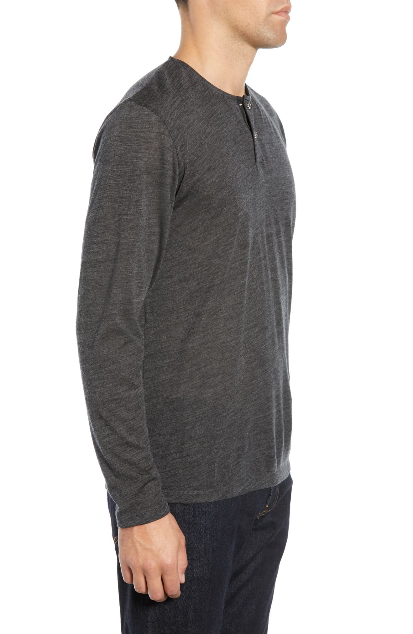 c09fb8406c7 The Kooples Skull Head Wool Henley T-Shirt | Nordstrom