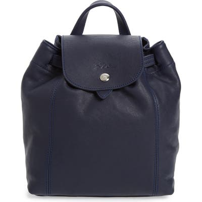Longchamp Extra Small Le Pliage Cuir Backpack - Blue