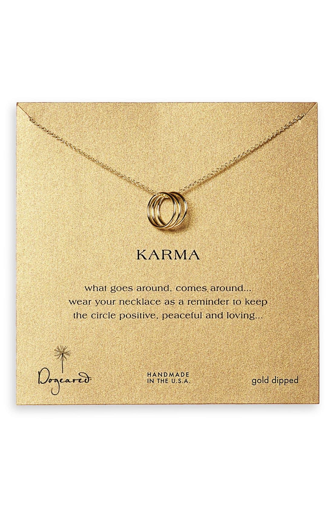 ,                             'Karma' Charm Necklace,                             Alternate thumbnail 5, color,                             710