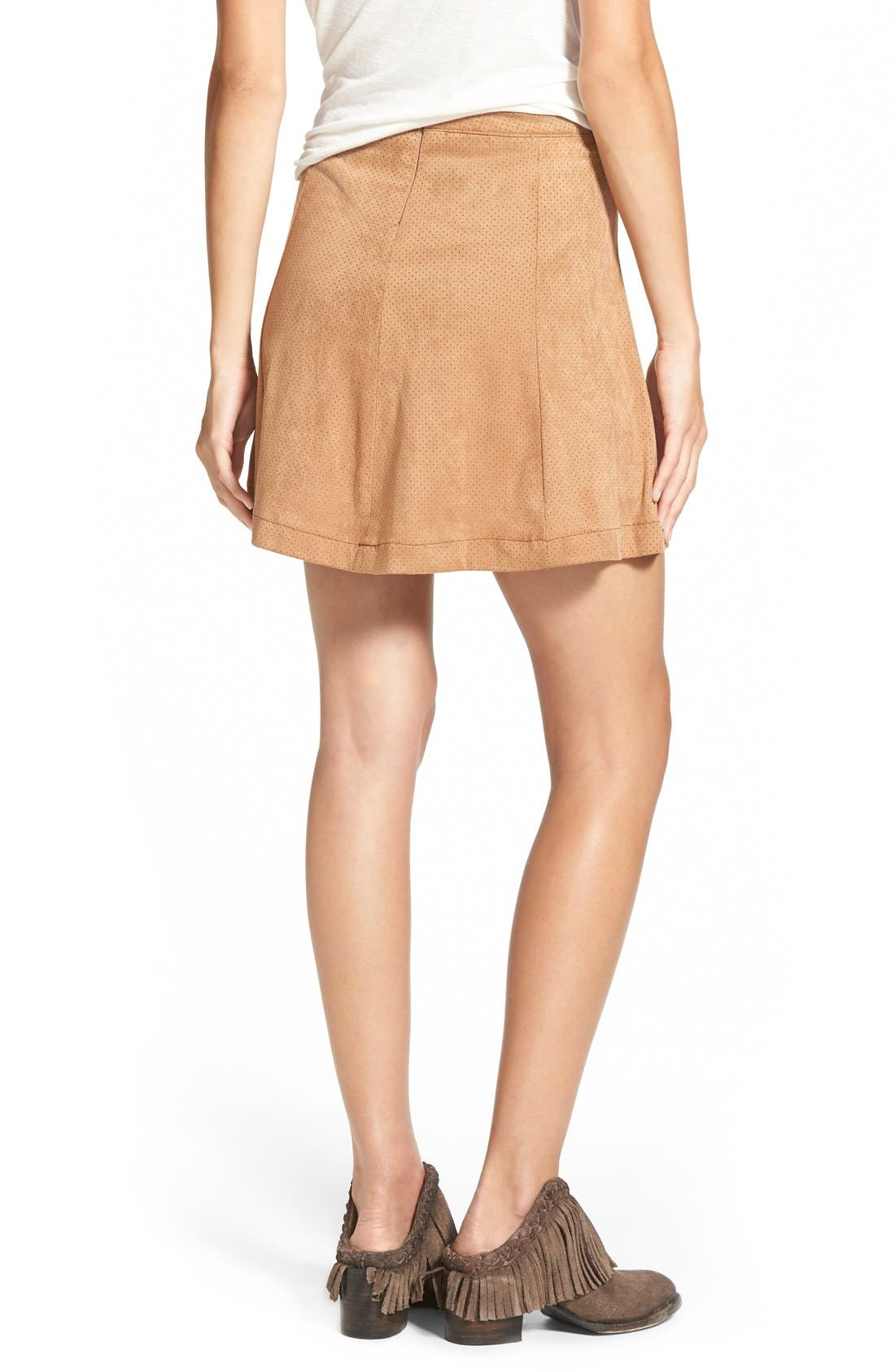 ,                             Button Front Skirt,                             Alternate thumbnail 7, color,                             260