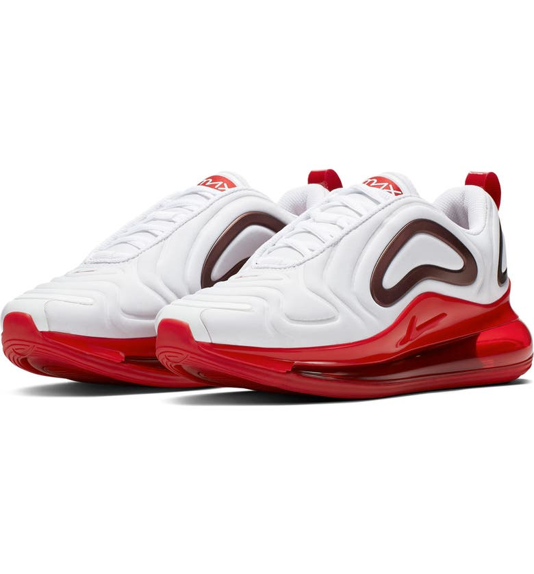 NIKE Air Max 720 SE Sneaker, Main, color, WHITE/GYM RED