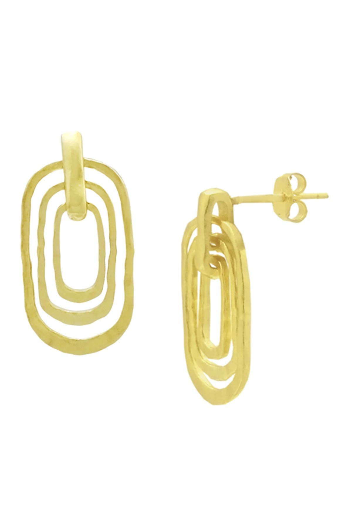 Image of Savvy Cie 18K Yellow Gold Vermeil Nesting Drop Earrings