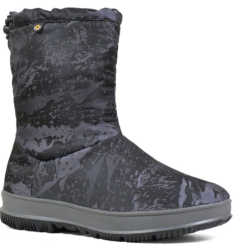 BOGS Snowday Mid Waterproof Snow Boot, Main, color, SILVER RUBBER