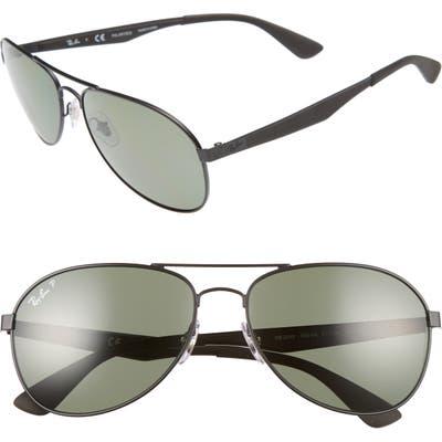 Ray-Ban 61Mm Polarized Aviator Sunglasses -