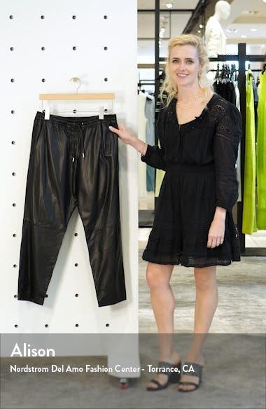 Monaco Crop Leather Pants, sales video thumbnail