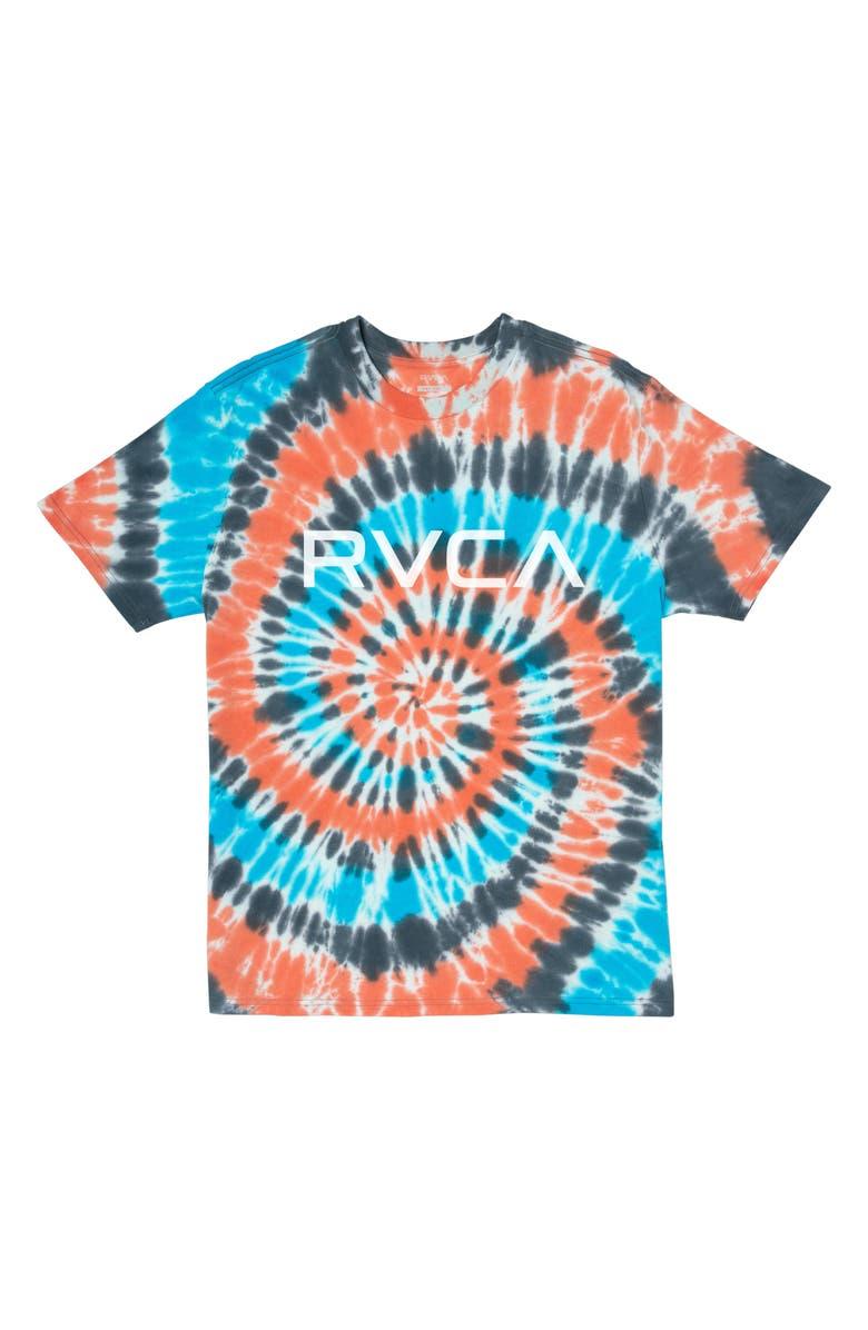 RVCA Tie Dye Logo Graphic Tee, Main, color, PUMPKIN