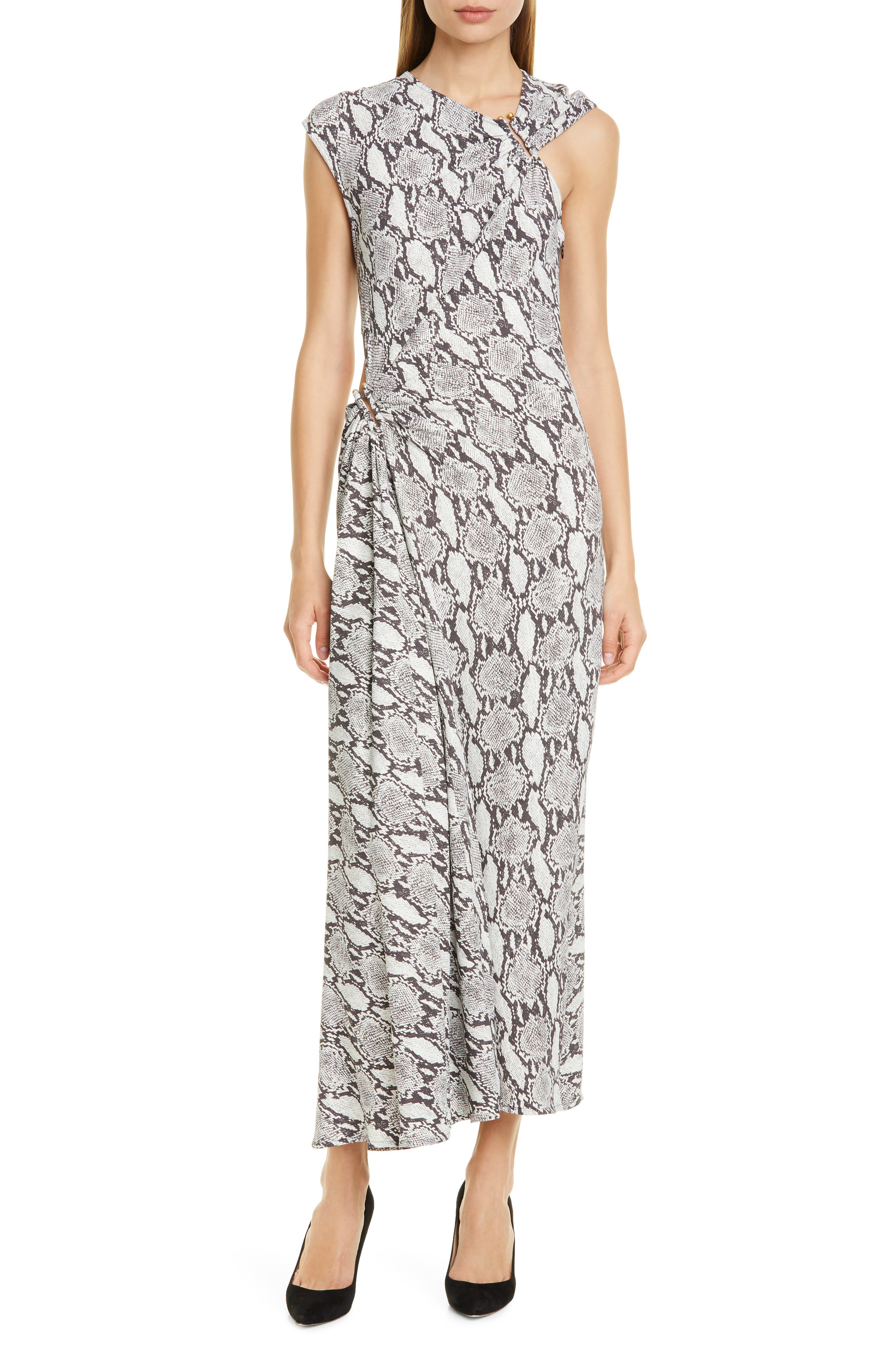 Image of A.L.C. Beale Snakeskin Print Maxi Dress