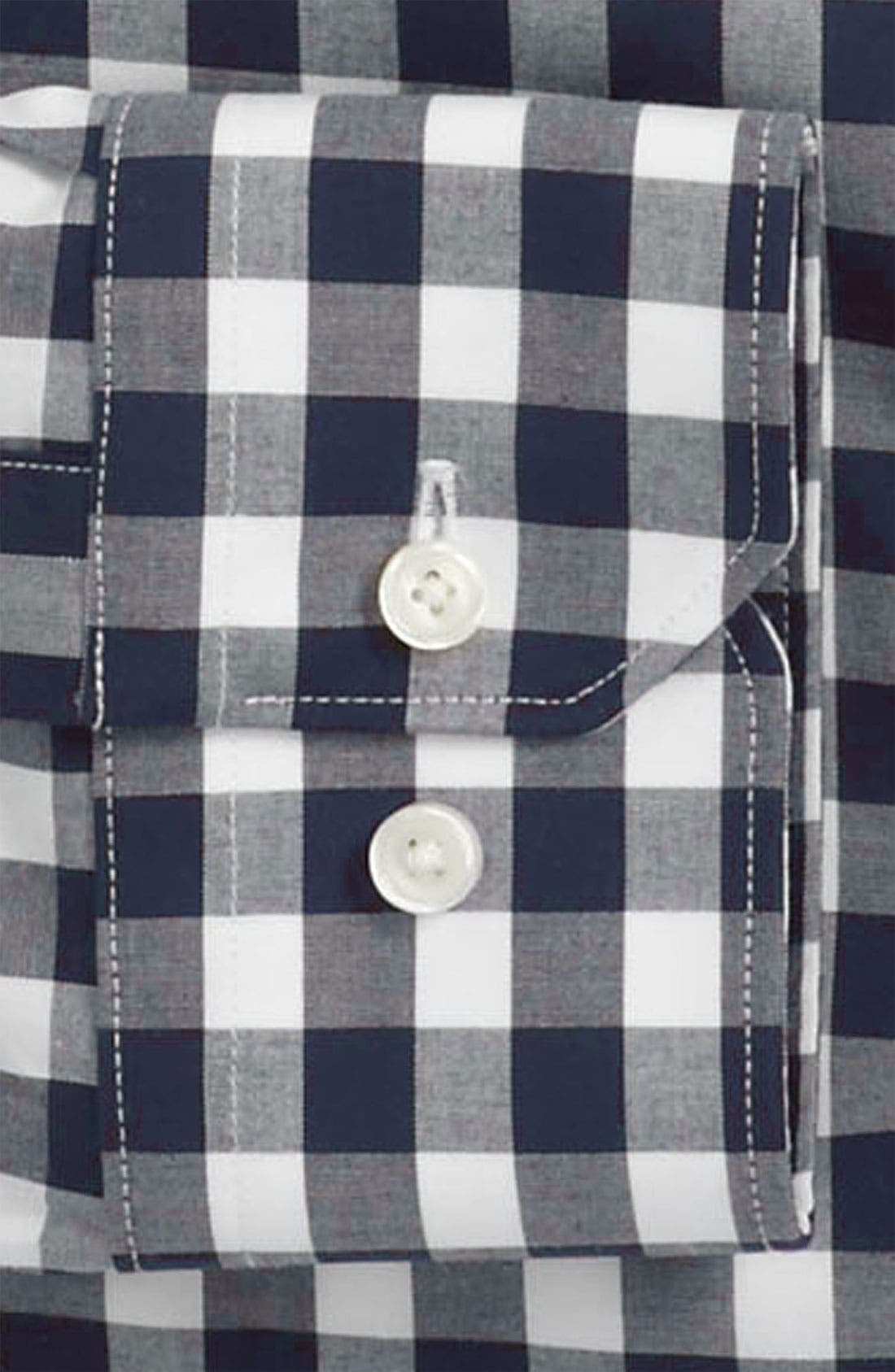 ,                             Slim Fit Non Iron Gingham Dress Shirt,                             Alternate thumbnail 14, color,                             410