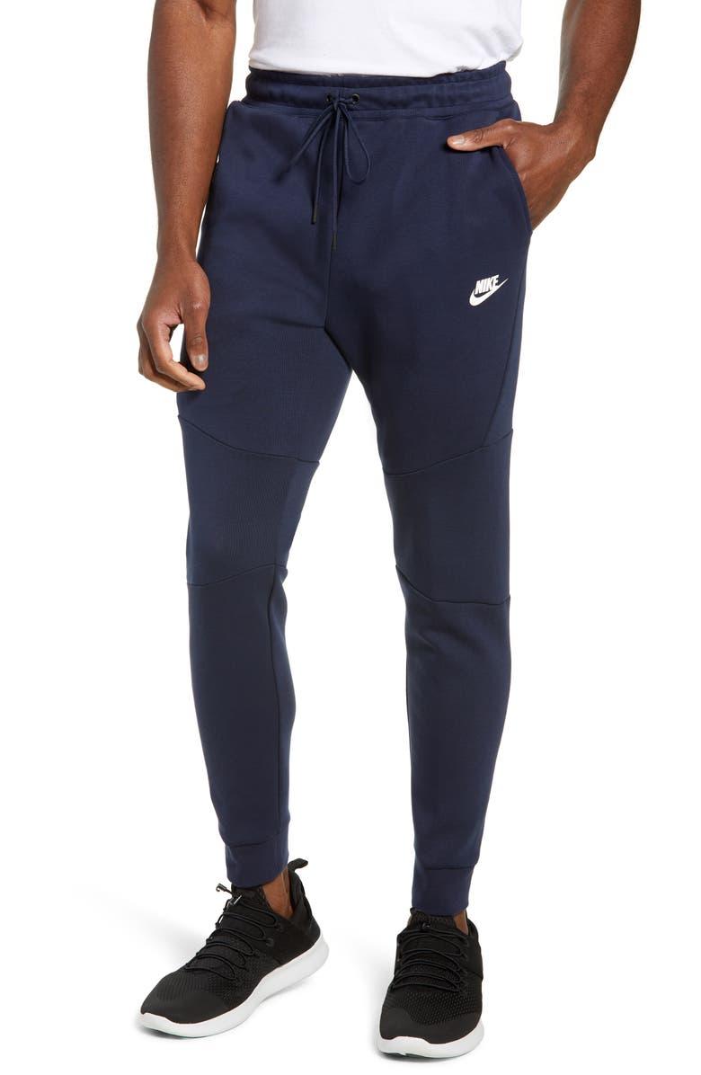 NIKE Tech Fleece Jogger Pants, Main, color, OBSIDIAN/ WHITE