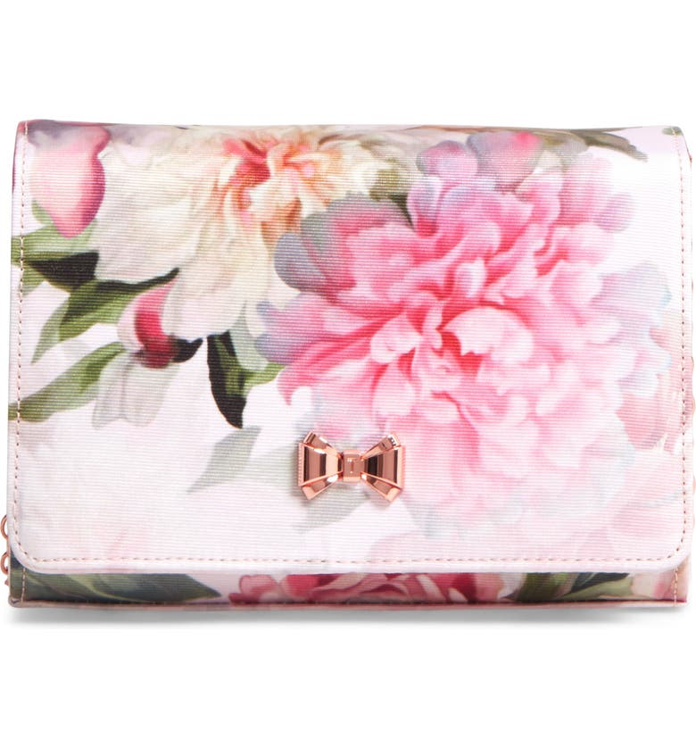 TED BAKER LONDON Massie Painted Posie Clutch, Main, color, 682