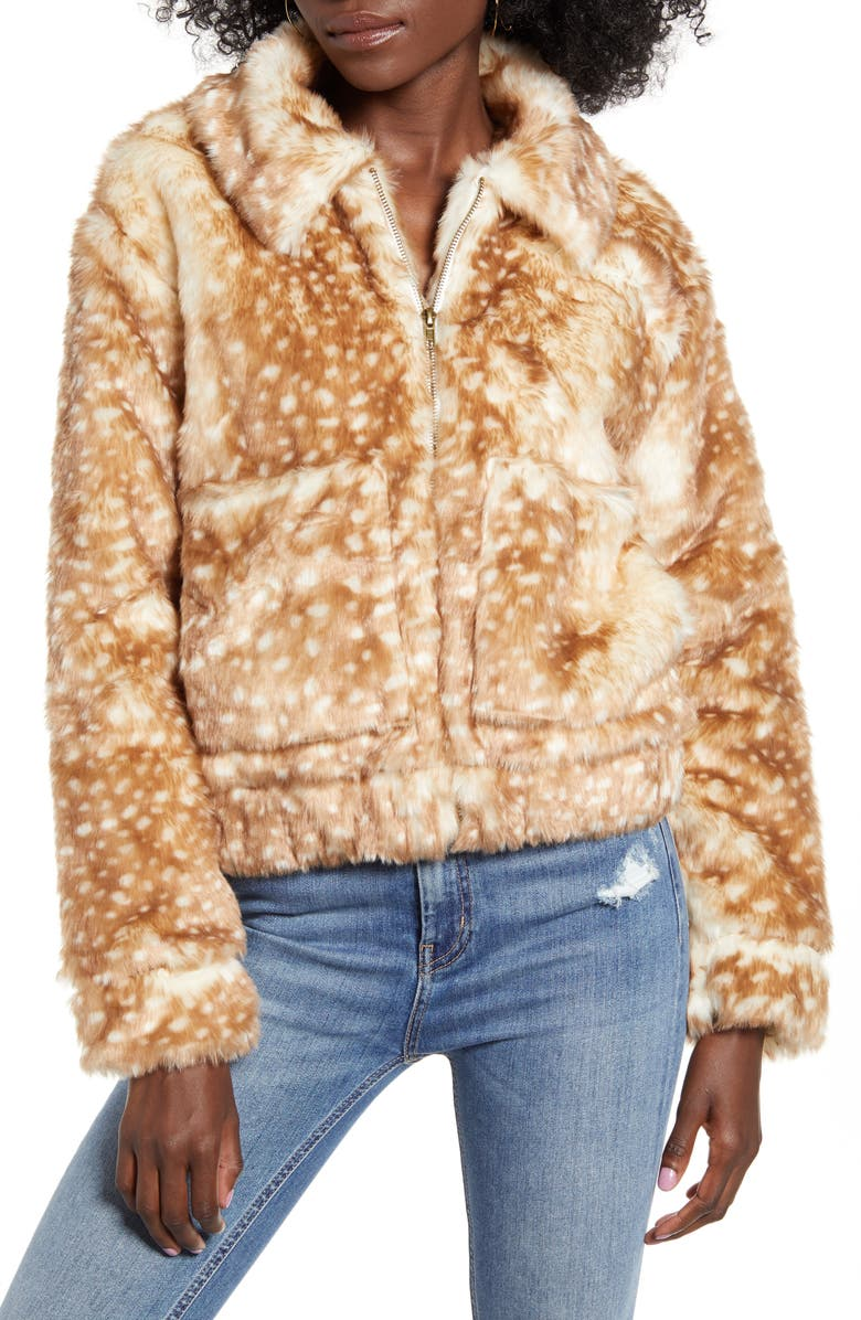 43 Si3 Nna Faux Fur Jacket by 4 Si3 Nna