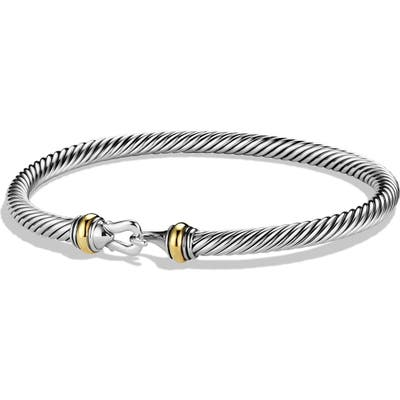 David Yurman Cable Buckle Bracelet With Gold, m