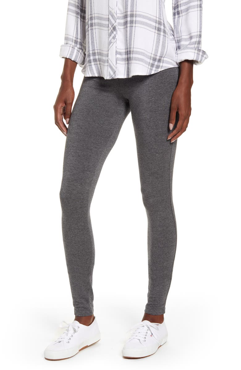 SPLENDID French Terry Leggings, Main, color, CHARCOAL