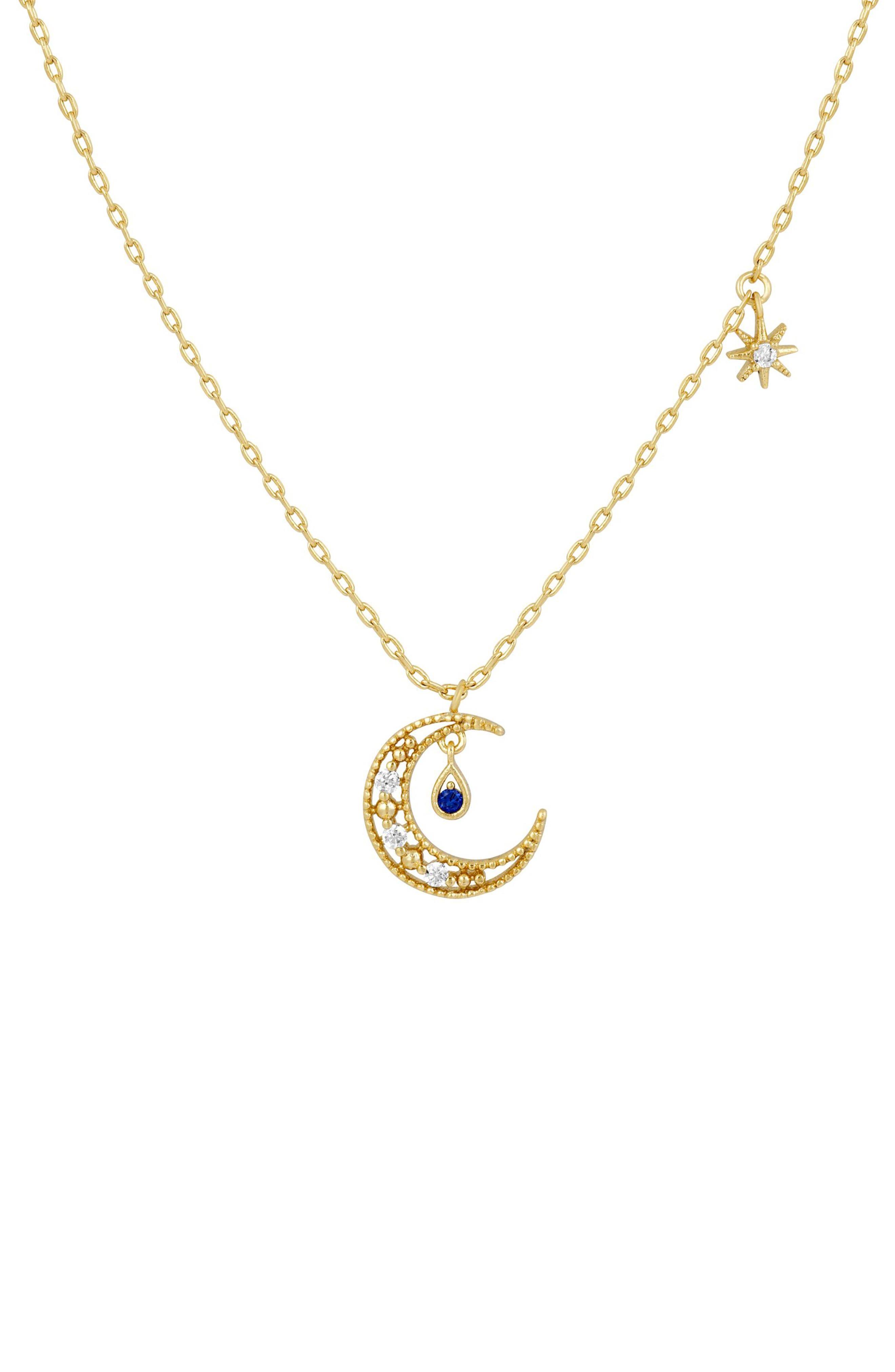 Blue Moon Pendant Necklace