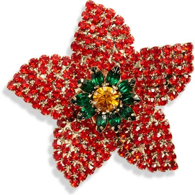 Cristabelle Classic Crystal Poinsettia Pin