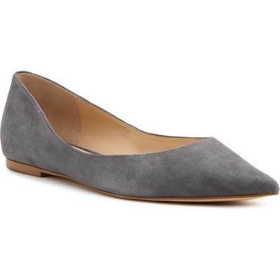 Botkier Annika Pointy Toe Flat- Grey