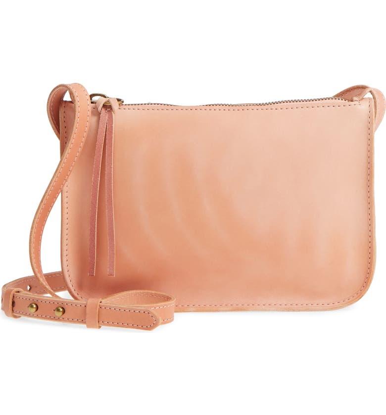 MADEWELL Simple Leather Crossbody Bag, Main, color, 650
